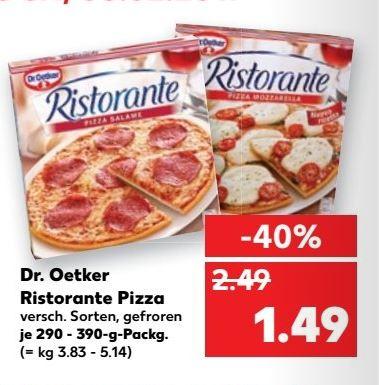 [Kaufland - Bundesweit] Vom 6.2 bis 8.2 Dr. Oetker Ristorante Pizza für je 1,49€