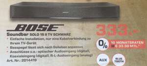 [Lokal Saturn Neuss] Bose Soundbar Solo 15 II TV Schwarz