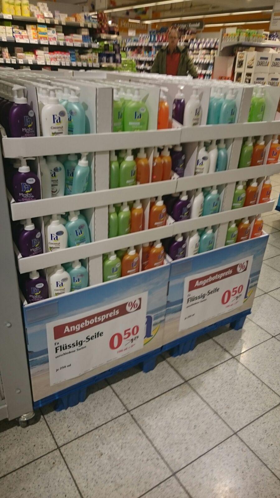 Globus Bundesweit Fa Handseife 20 Flaschen für 5€ oder 5x Men shampoo + 5x Hydro5 Rasierer für 5,20€