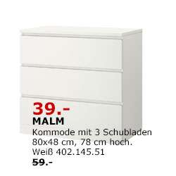 Lokal - Ikea Kamen und Essen] Tagesangebot am 3.Februar - IKEA MALM ...