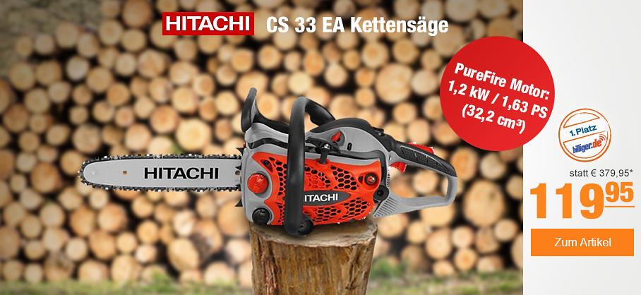 Hitachi CS 33 EA Benzinkettensäge bei PLUS ONLINE
