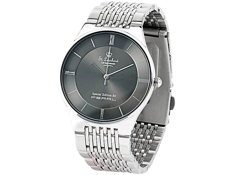 St. Leonhard Wasserdichte Herren- oder Damen-Armbanduhr aus Edelstahl - gratis statt 9,90 (+ ab 4,90 VSK)