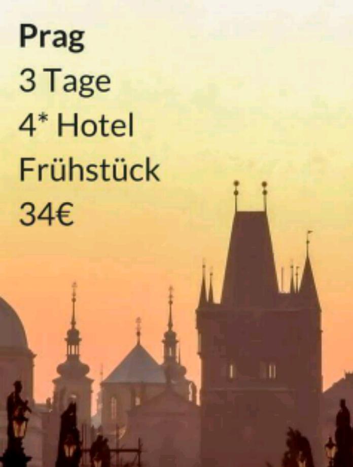 Prag Citydeal – 3 Tage im 4* Hotel inklusive Frühstück für 34€