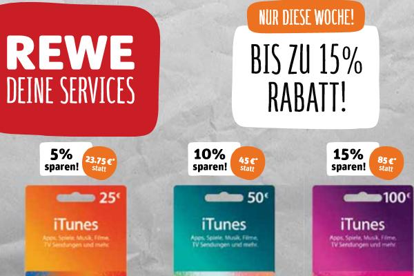 100€ iTunes-Karte für 85€ bei Rewe ab 13.02.