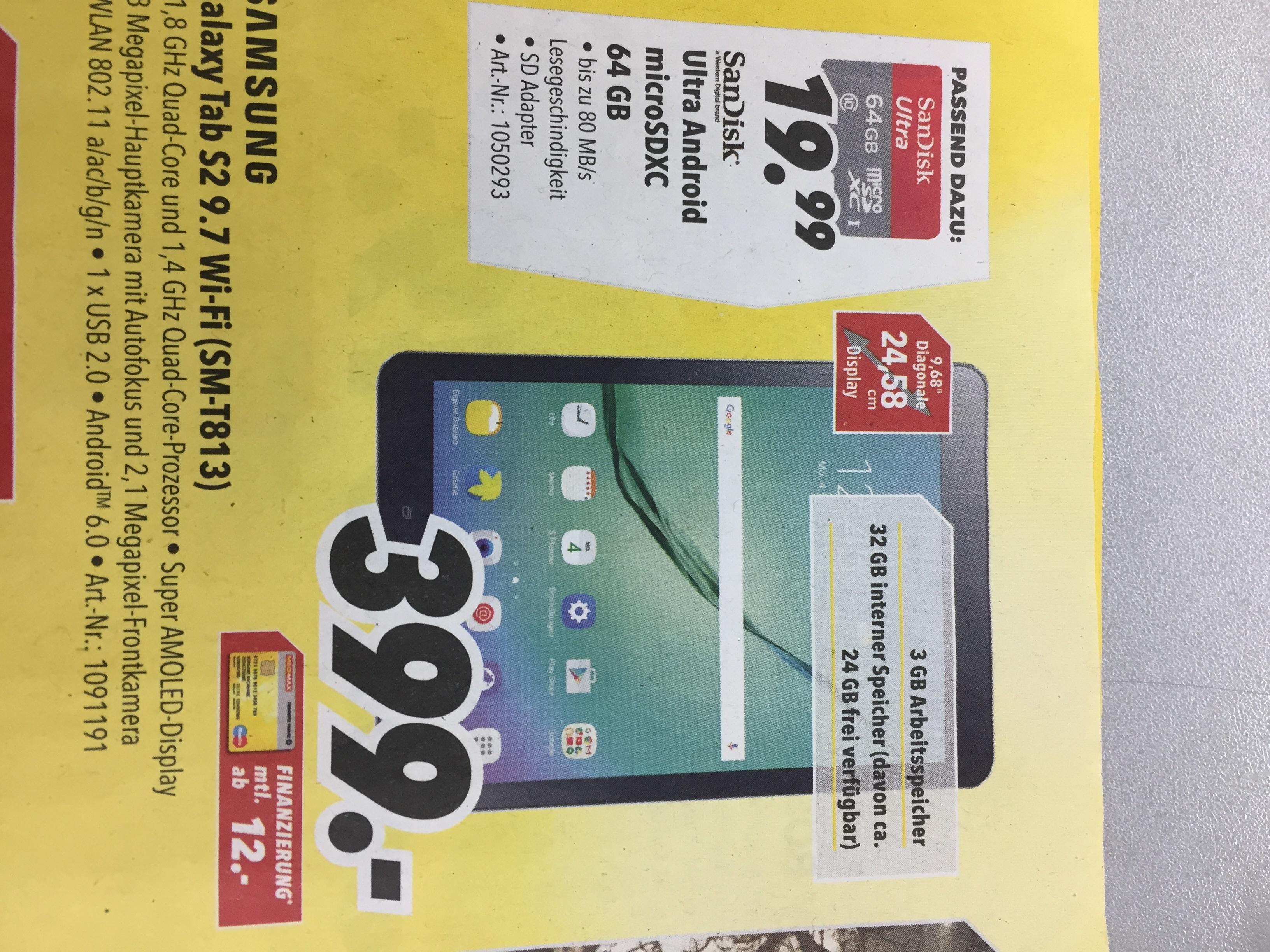 [MEDIMAX Beilage] Samsung Galaxy Tab S2 (SM-T813) für 399,-