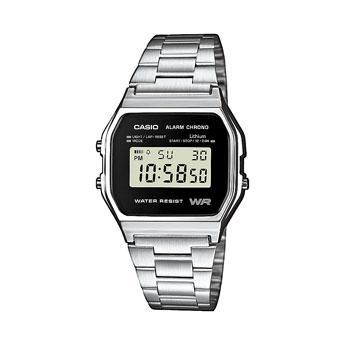 """Casio 80er-Retro-Uhr """"A158WEA-1EF"""" silber für 14,95€ inkl. Versand"""