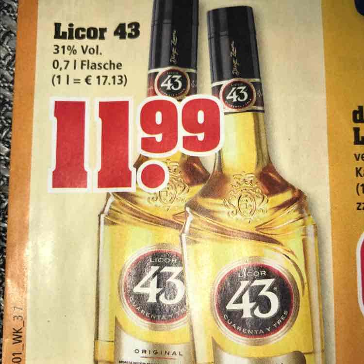 trinkgut: Licor 43 - cuarenta y tres --> 11,99 / 0,7 l