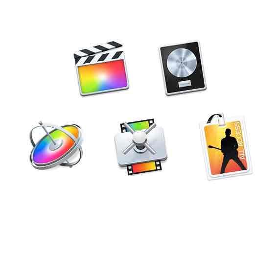 Apple Final Cut Pro X, Logic Pro X, Motion 5, Compressor 4 und MainStage 3 für Studenten für 229,99€.