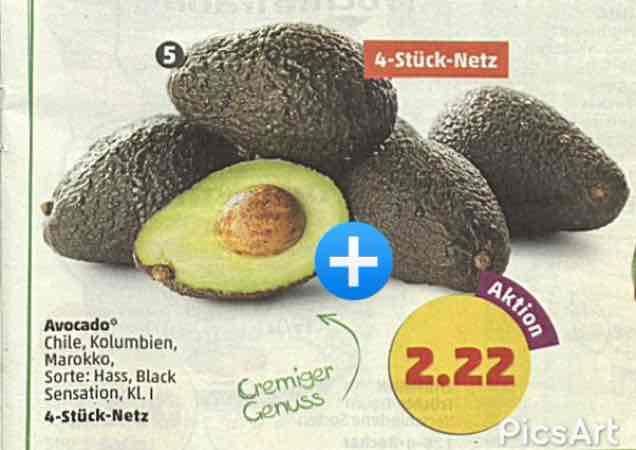 Penny regional in Großburgwedel 4 Avocados reduziert auf 1,99€