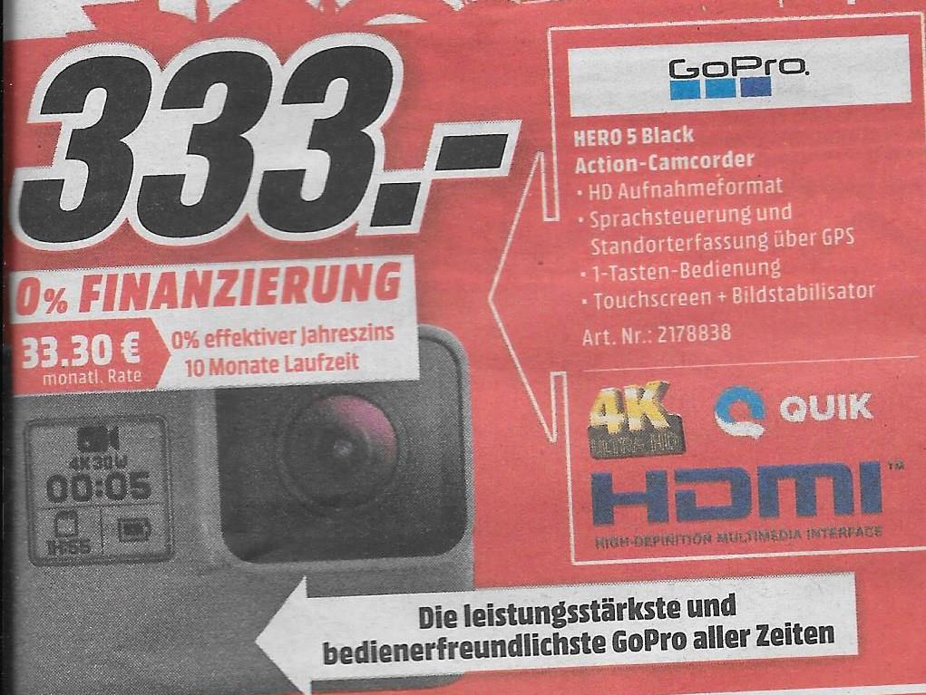 [Lokal Frankfurt am Main] GoPro 5 Black. Montag 6.02.17