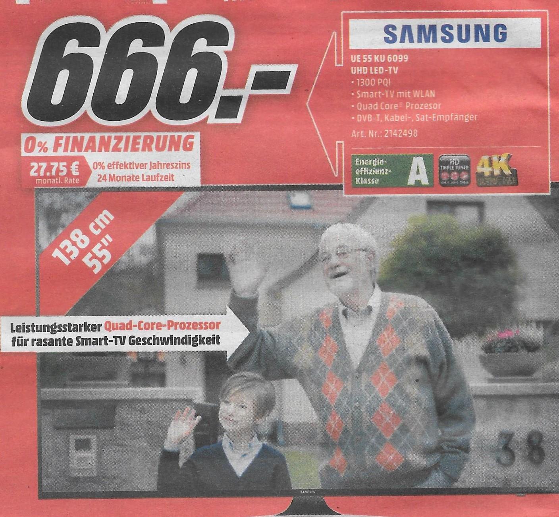 [Lokal Frankfurt am Main] Samsung UE 55 KU 6099 UHD LED-TV. Montag 6.02.17