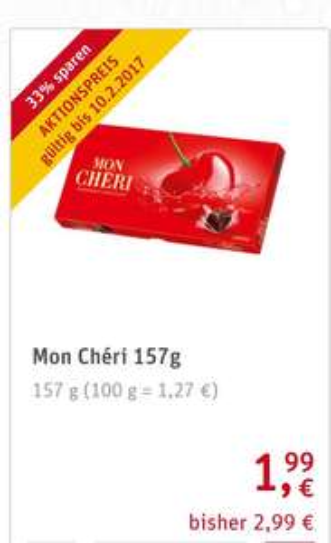 Mon Cherie 157-189 Gr. für 1,99 € bei Rewe