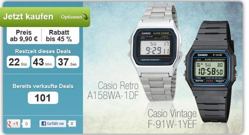Casio-Kultuhren ab 9,90 € – klassische digitale 80er-Casio-Retro-Uhren