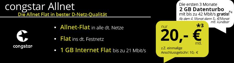 [Congstar] iPhone SE (64GB) + D1-Netz + Sprachflat + 1GB = 24,58€/ Monat