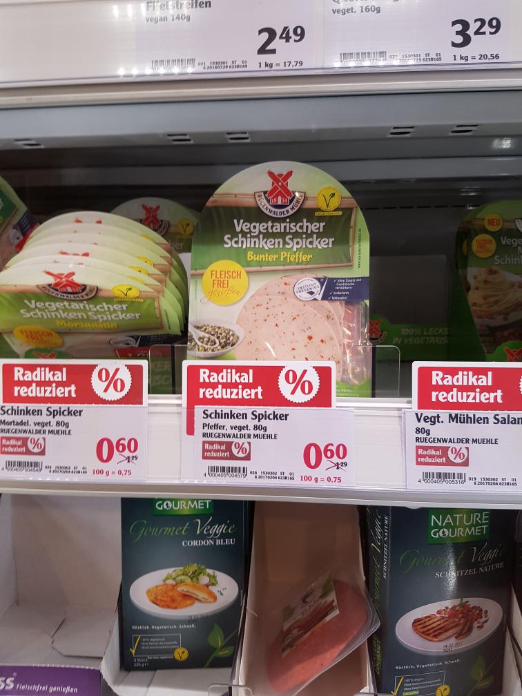 Globus Güdingen Rügenwalder Mühle vegetarische Produkte