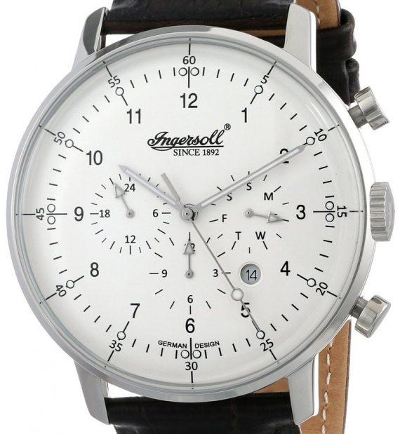 amazon.de Ingersoll Herren-Armbanduhr XL Houston Chronograph Automatik Leder IN2816WH