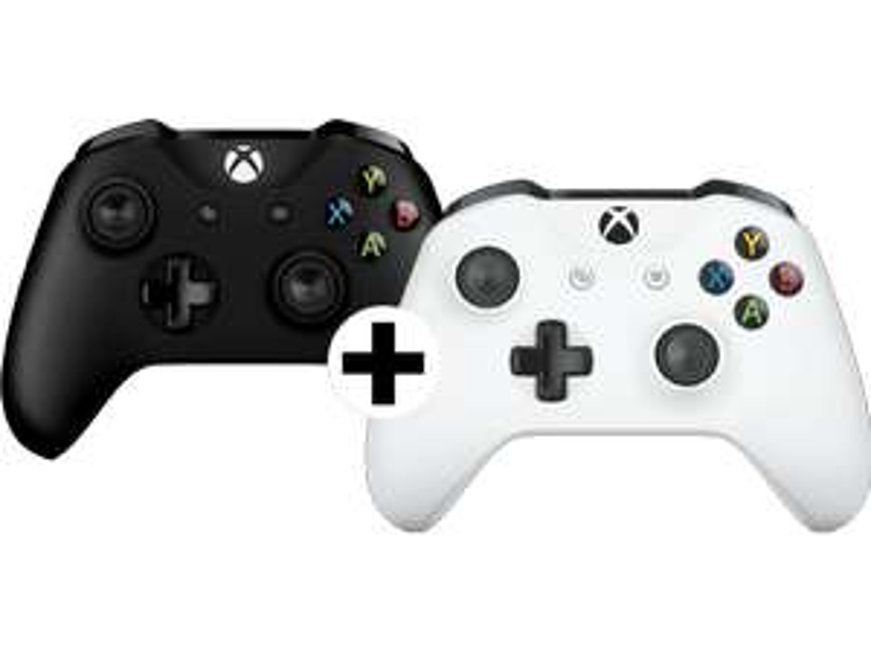 [Mediamarkt Österreich] Microsoft Xbox One Wireless Controller S Schwarz + Weiß (2 Stück) für 76,-€