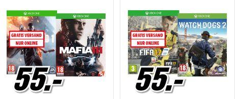 [Mediamarkt Österreich] Battlefield 1 + MAFIA III (Xbox One) oder FIFA 17+ Watch Dogs 2 (Xbox One) für je 65,-€