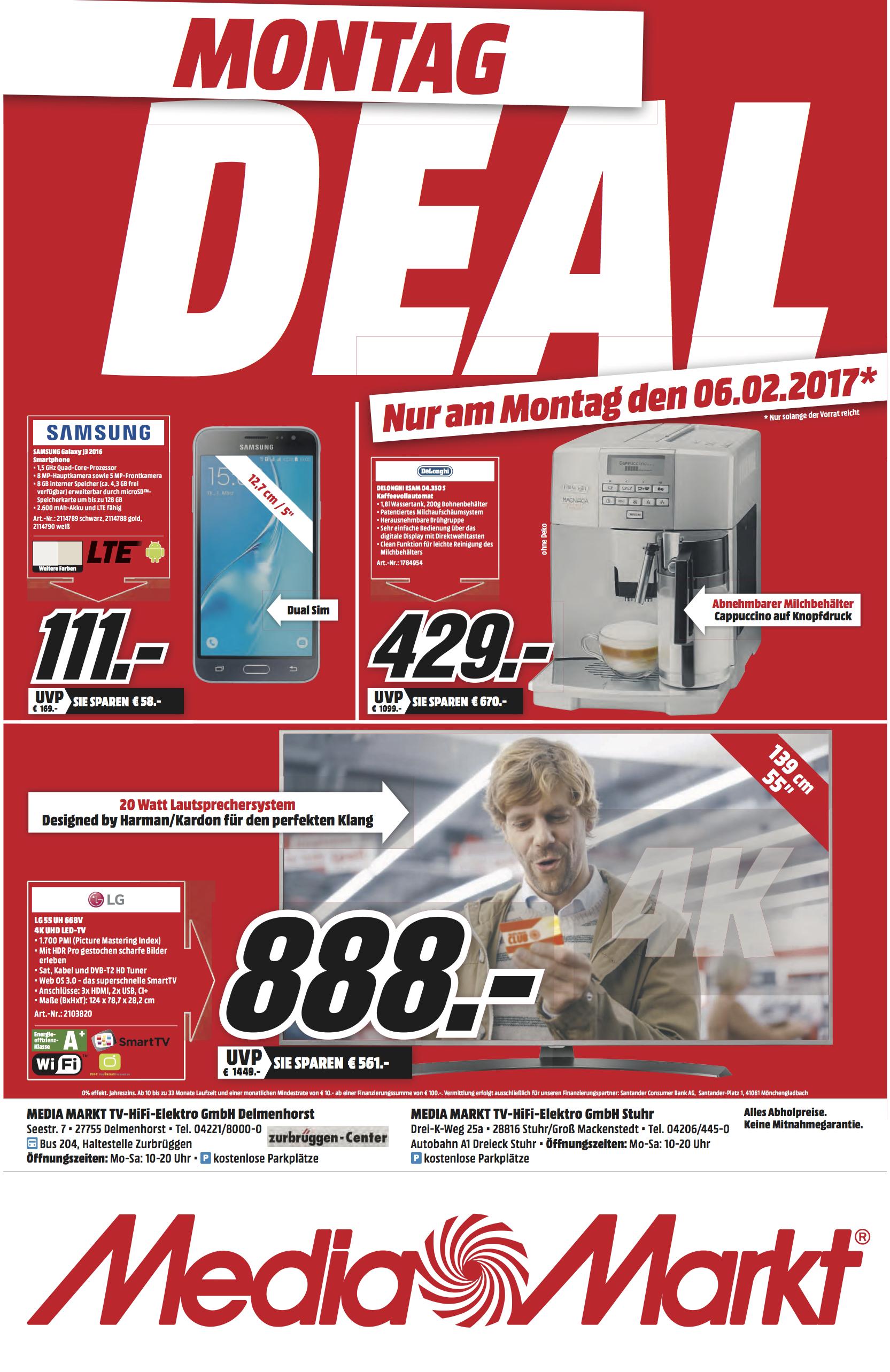 [Lokal Bremen/Delmenhorst] Samsung Galaxy J3 (2016) Duos Media Markt
