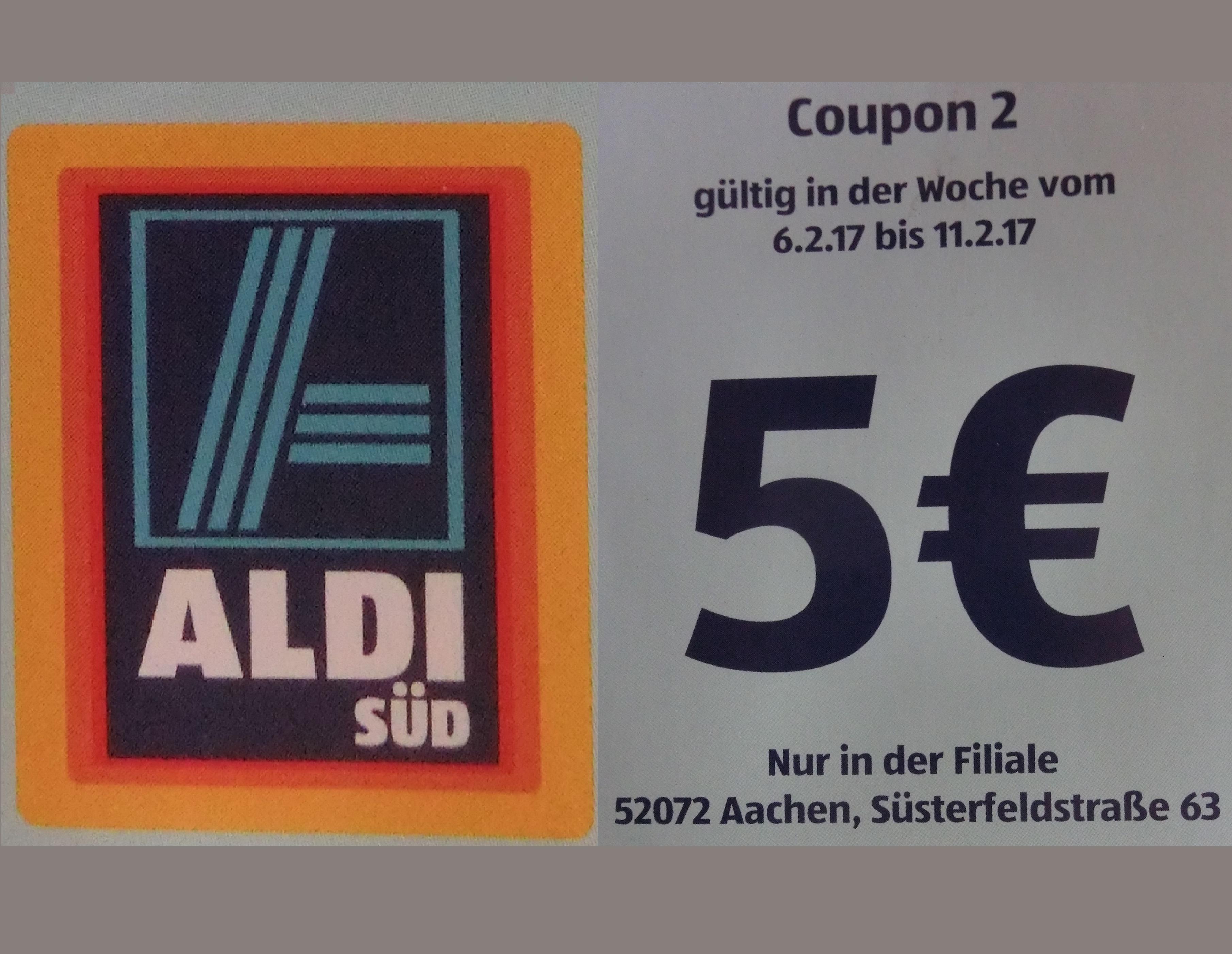[lokal Aachen] 5€ Rabatt ab 40€ Einkaufswert bei ALDI - bis 40% Rabatt möglich?