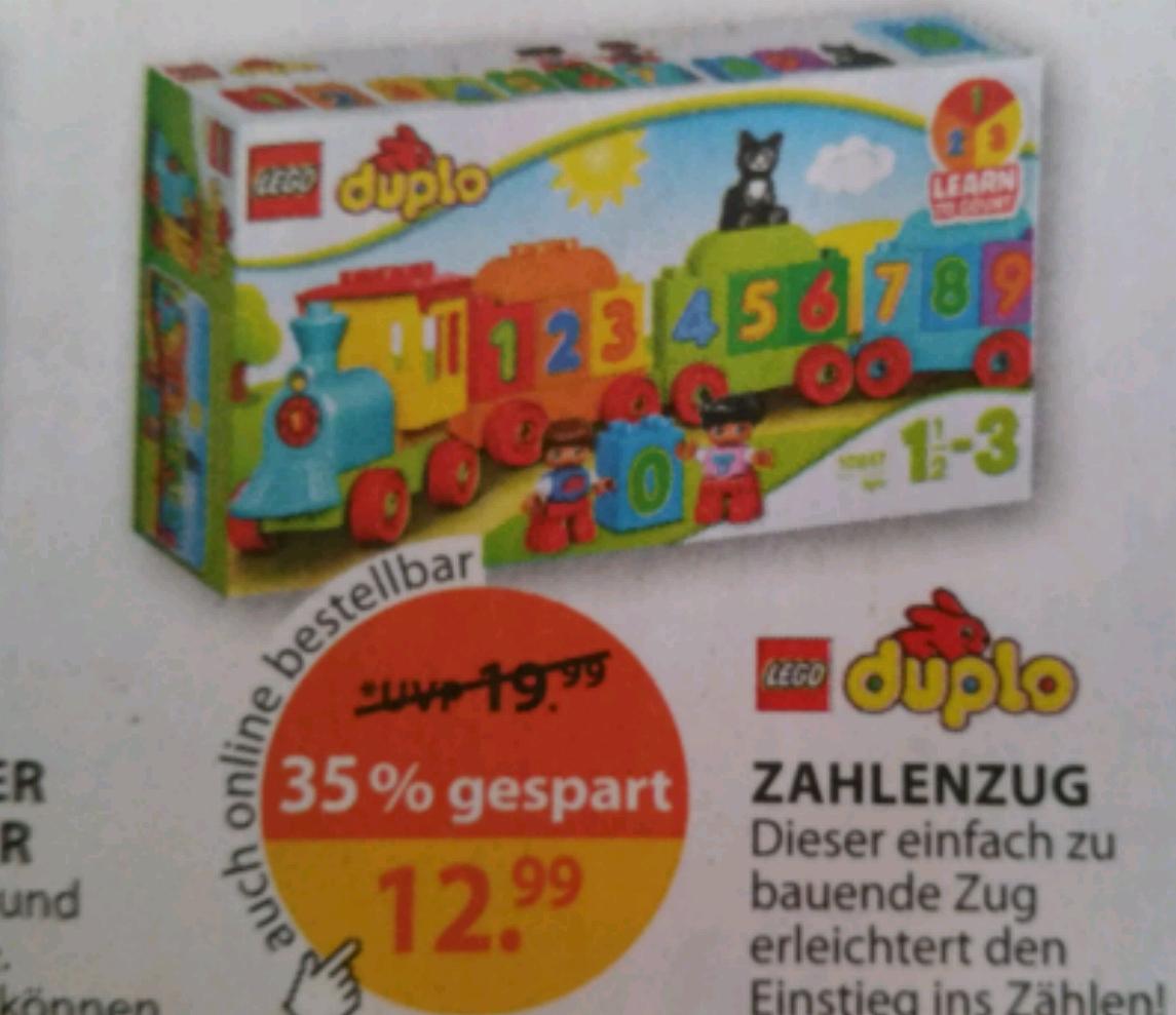 Lego Duplo Zahlenzug EUR 12,99 abzüglich 10% Rossmann - Gutschein =11,69 EUR [Müller bundesweit] *UPDATE*