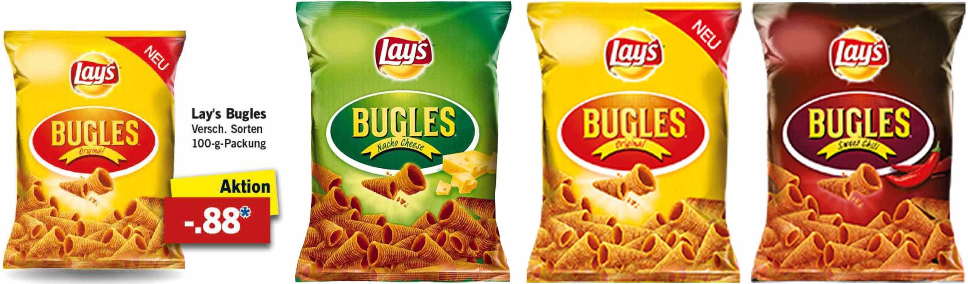 [LIDL] Lay's Bugles Chips für nur 88 Cent - bundesweit - ab 6.2.