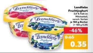 Kaufland 6x Landliebe Joghurt für 1,10€ ab 9.2.
