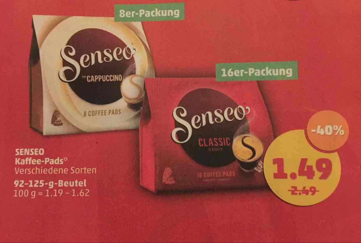 Senseo Pads für 1,49€ [Framstag; Penny]