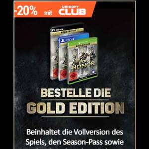 For Honor -20% mit Ubisoft Club