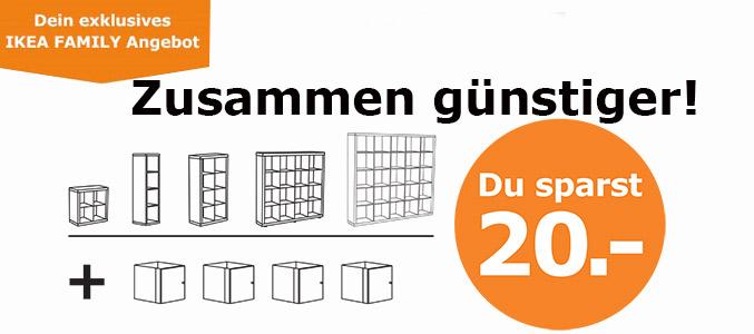 [IKEA Nürnberg/Fürth] Weißer Kallax mit 4 weißen Türen 20 € billiger für Family Mitglieder