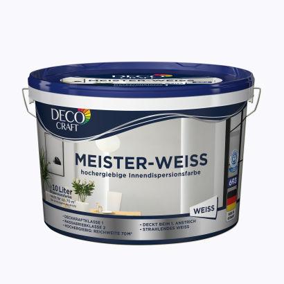 Aldi Nord Deco Craft Meister Weiß Innendispersionsfarbe 10 Liter
