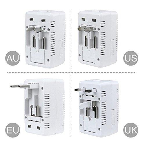 Reiseadapter mit USB-Ports für 150 Länder - Incl. Prime Versand nur 4€
