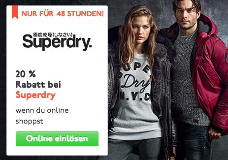 20% auf alles bei Superdry für Studenten! (Online und Instore)
