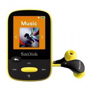 [Sport MP3 Player] SanDisk Sansa Clip Sport 4GB Gelb für Audiophile