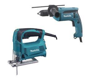 Makita DK0074 Werkzeug-Set AKTION Stichsäge 4329 + Schlagbohrmaschine HP1641 für 88€
