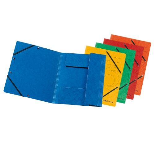 10 Einschlagmappen von herlitz, farbig sortiert, mit Gummizug [Amazon prime]