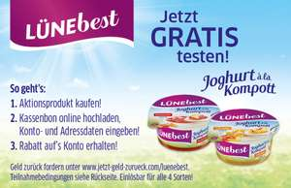 Lünebest Joghurt GRATIS TESTEN