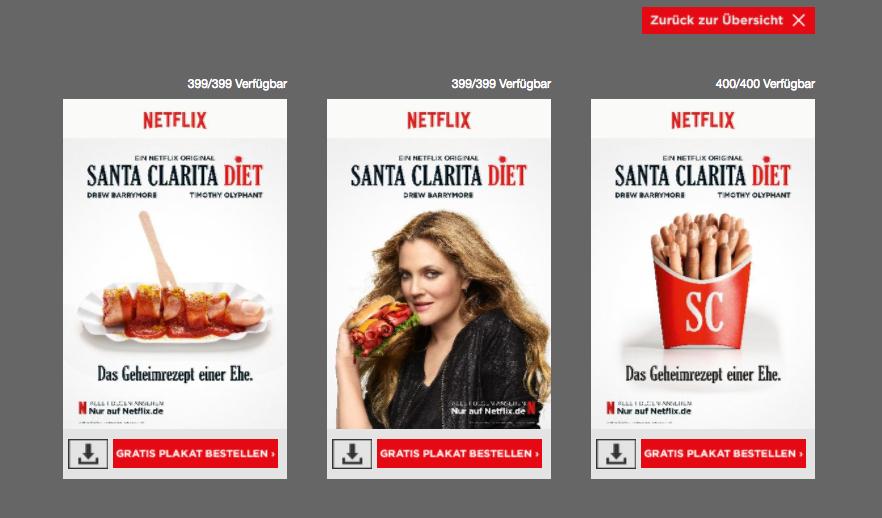[Serienplakate] Wieder da! Gratis Santa Clarita Diet Plakat von Netflix