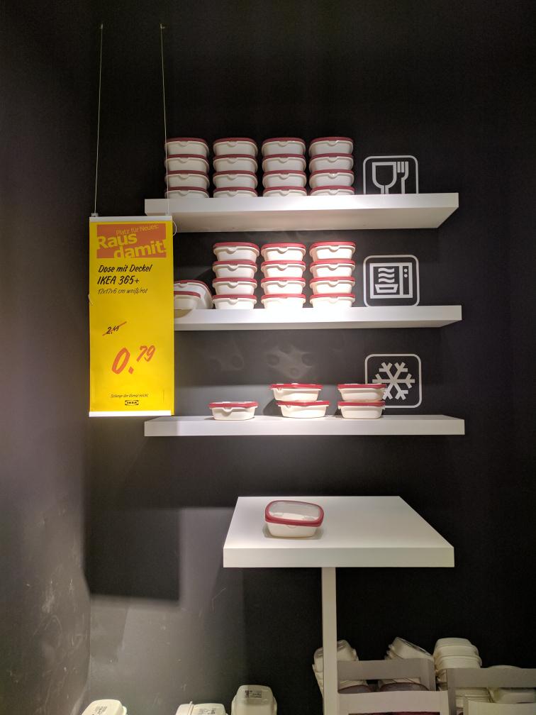 [IKEA Waltersdorf] Dose mit Deckel IKEA 365+ 17x17x6 weiß/rot