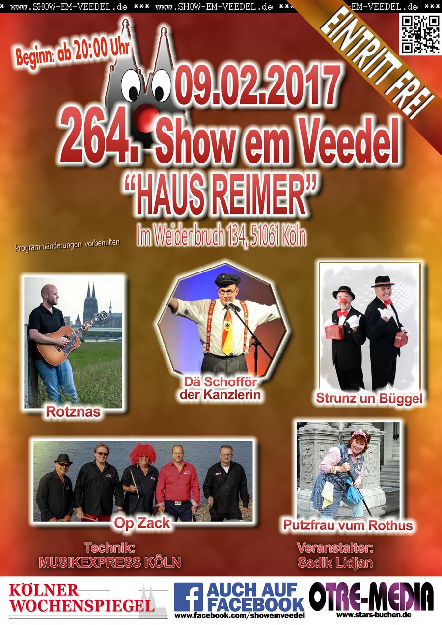 Köln - 264. Show em Veedel - 09.02.2017 - 20 Uhr - Eintritt frei