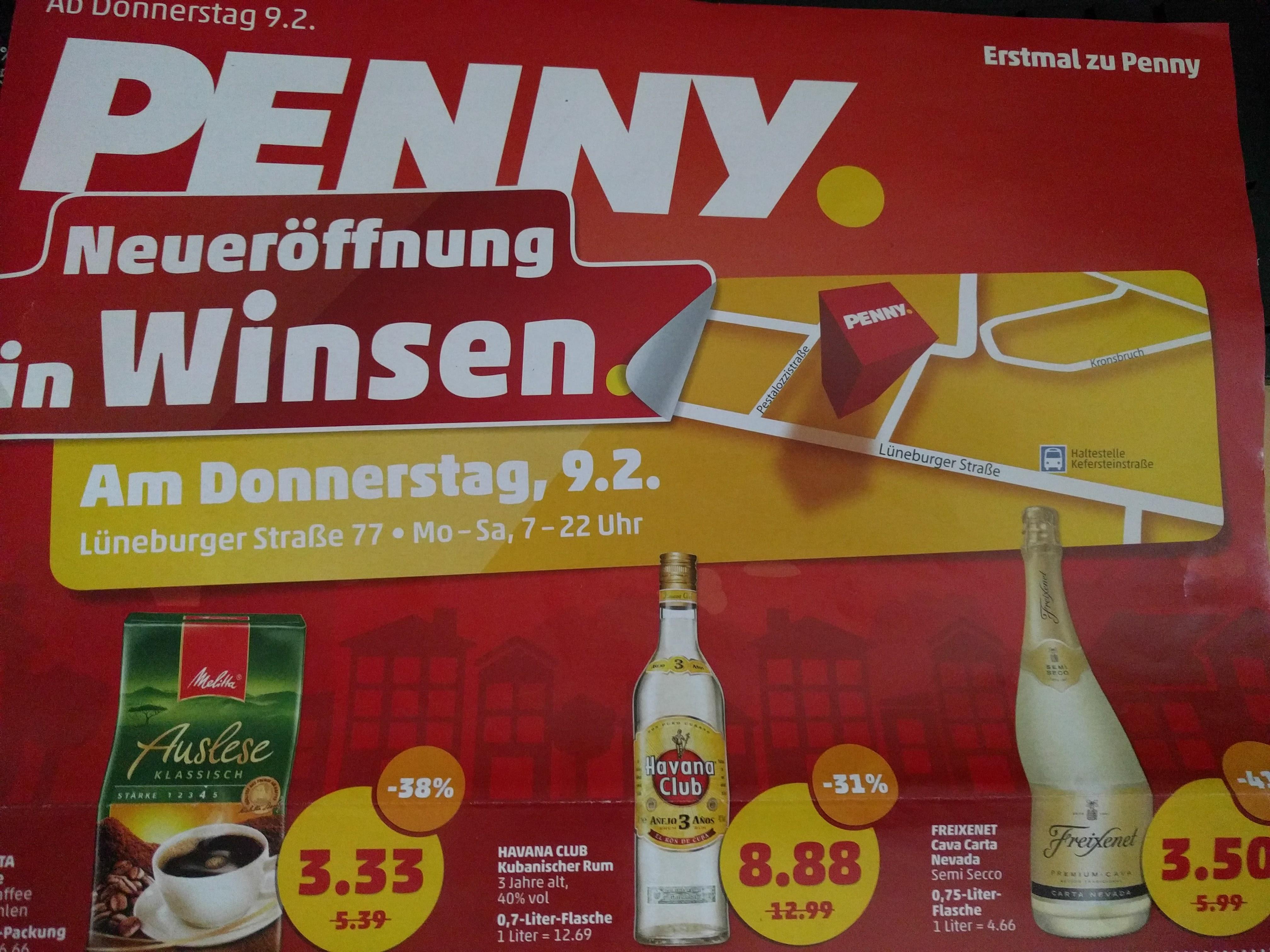 Lokal: Winsen (Luhe) Penny Neueröffnung  Havana Club 0,7 Liter