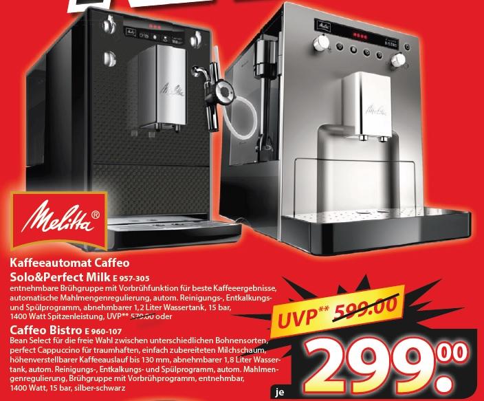 Melitta Caffeo Bistro / Solo & Perfect Milk für je 299€ bei Famila Nordost