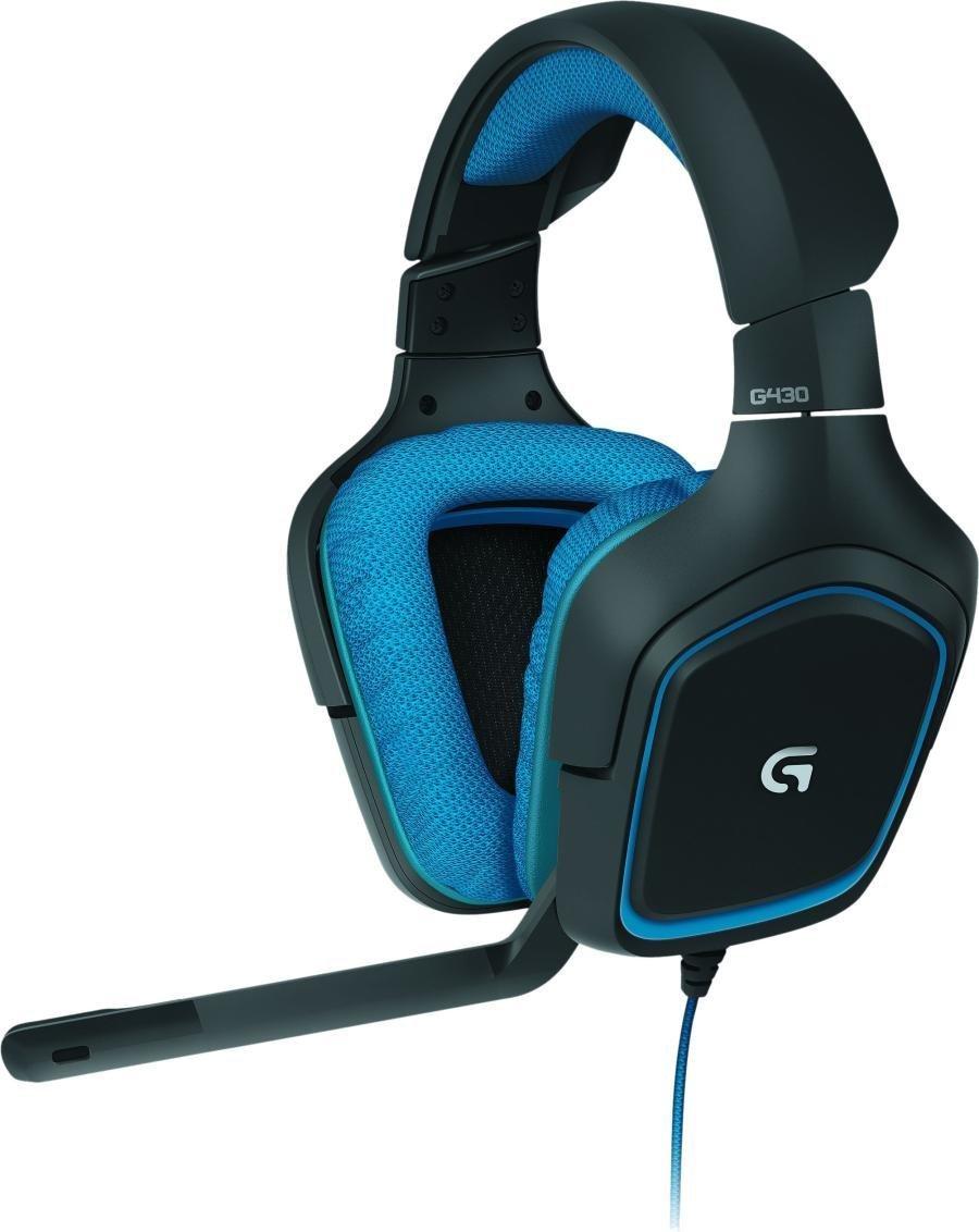 Logitech G430 Gaming Kopfhörer (Dolby 7.1-Surround-Sound für PC und PS4) blau für 39,99€