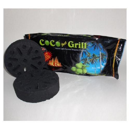 Selbst entzündende Kokosnuss-Kohle - 2 Stück pro Packung