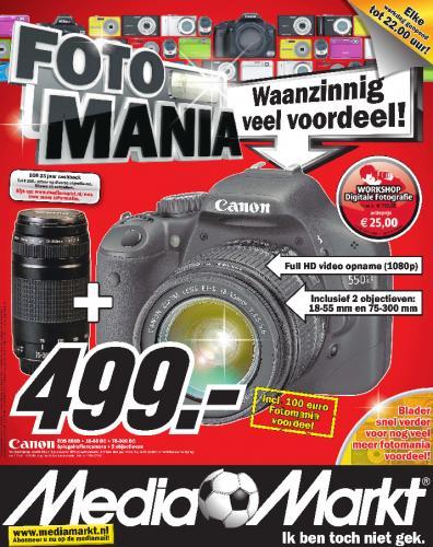 [Media Markt NL] CANON EOS 550D + 18-55mm & 75-300mm DC DC für 499 €