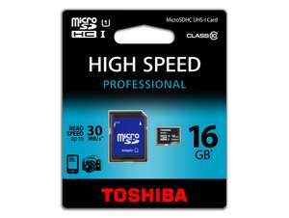 Toshiba High Speed Professional - Micro SD Karte - 16GB - Klasse 10 [Lokal Aachen]