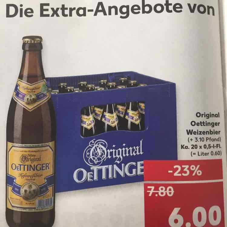 Oettinger Weizen ab 13.-15.02. bei Kaufland