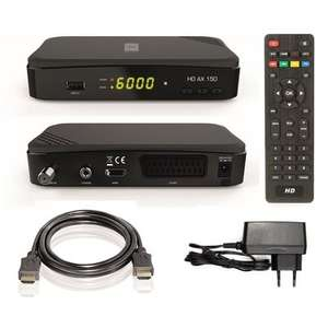 [Satchef] Opticum AX HD 150 HDTV-Satellitenreceiver (PVR ready, Full HD 1080p, HDMI, USB, Scart, 12 Volt, ideal auch für Camping) inkl. HDMI Kabel