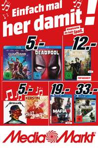 Jetzt offiziell Mediamarkt Prospekt Berlin, Deadpool, Guardians of the Galaxy, The Revenant, Avatar Extended 3 Disc  Collection' Edition je Blu-ray 5€ und weitere Filme