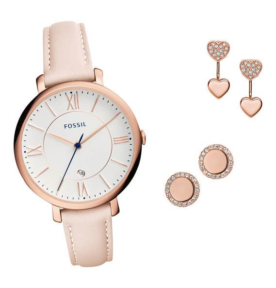 Fossil Schmuckset: Uhr + 2 Paar Ohrstecker für 107,99€ versandkostenfrei bei [GALERIA Kaufhof] statt ca. 135€